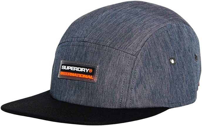Superdry SD International 5 Panel Cap Gorra de béisbol, Azul (Navy ...
