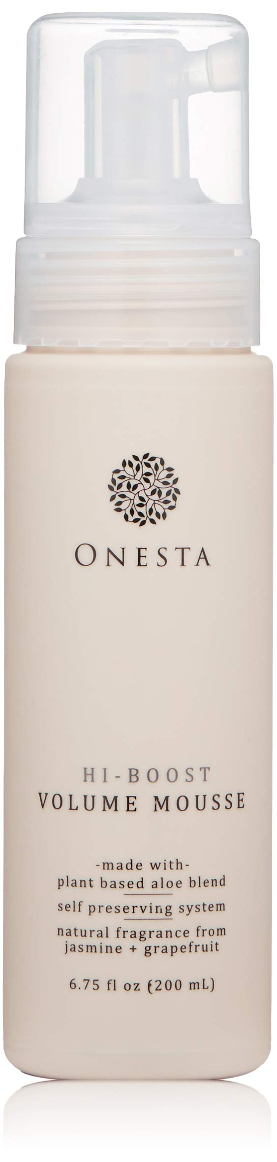 Onesta Hair Care Hi-Boost Volume and Shine Mousse, 6.75 oz, Aloe Juice, Green Tea, and Ginger Root