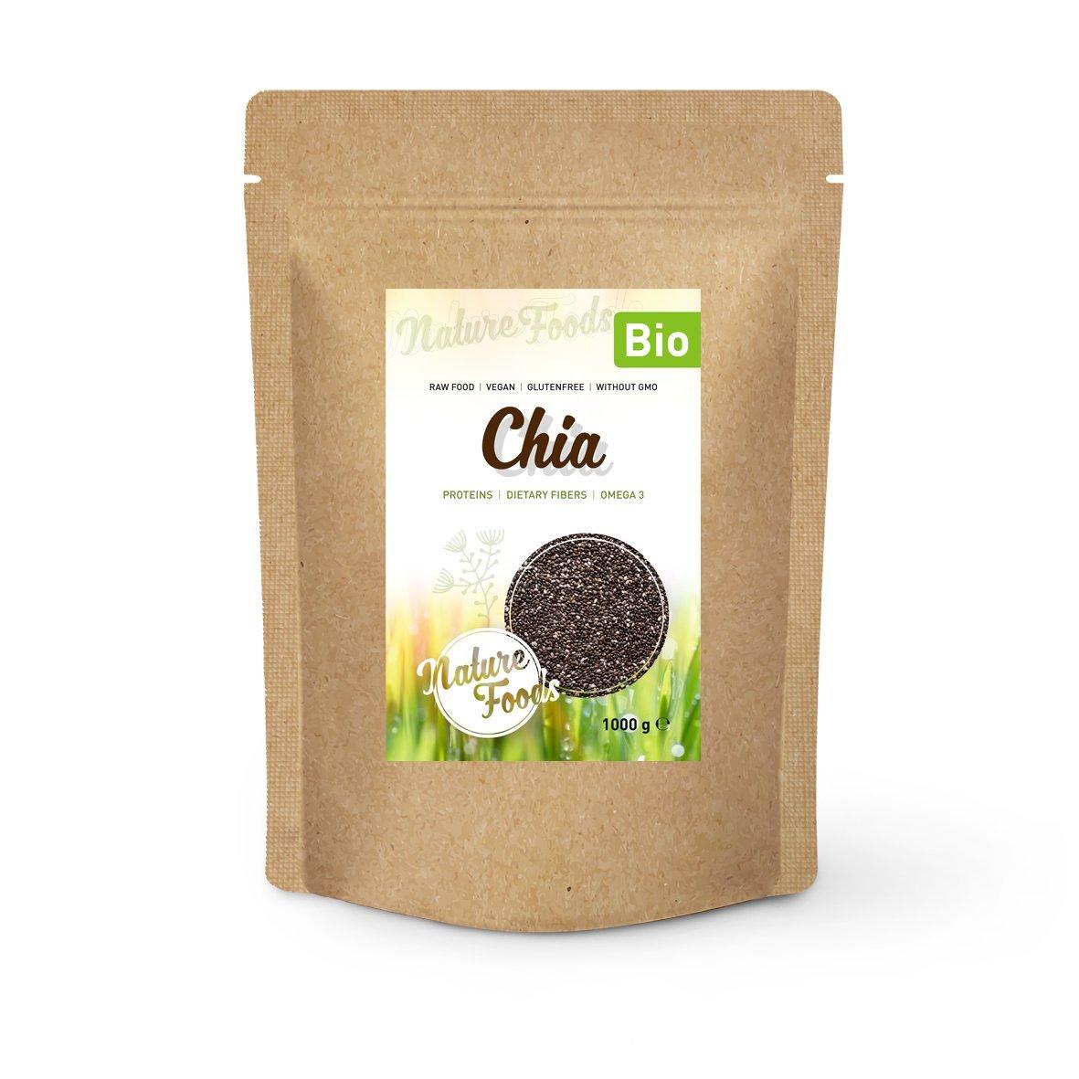 NATUREFOODS - Semillas de Chia Orgánico 1kg | Alto contenido de ...
