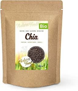 NATUREFOODS - Semillas de Chia Orgánico 1kg | Alto contenido de fibras, proteínas y omega 3 | Apto para veganos |: Amazon.es: Alimentación y bebidas