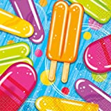 Summer Popsicle & Ice Cream Party Beverage Napkins, 16ct