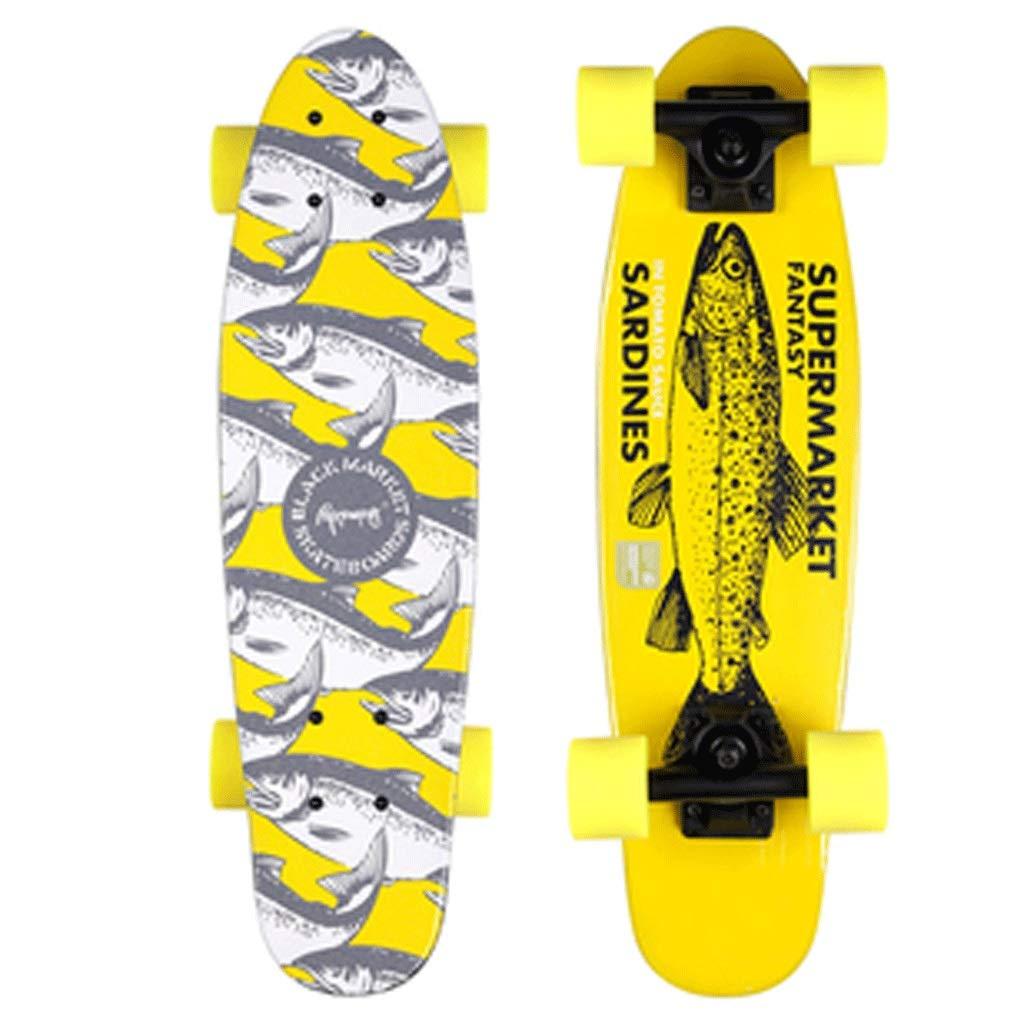 【売れ筋】 ショートボードスモールフィッシュボードアダルトストリートスキルスケートボード初心者男の子と女の子スケートボード (色 (色 : : Skateboard) B07KW389T4 B07KW389T4 Skateboard, フロアマット販売アルティジャーノ:e2757532 --- a0267596.xsph.ru