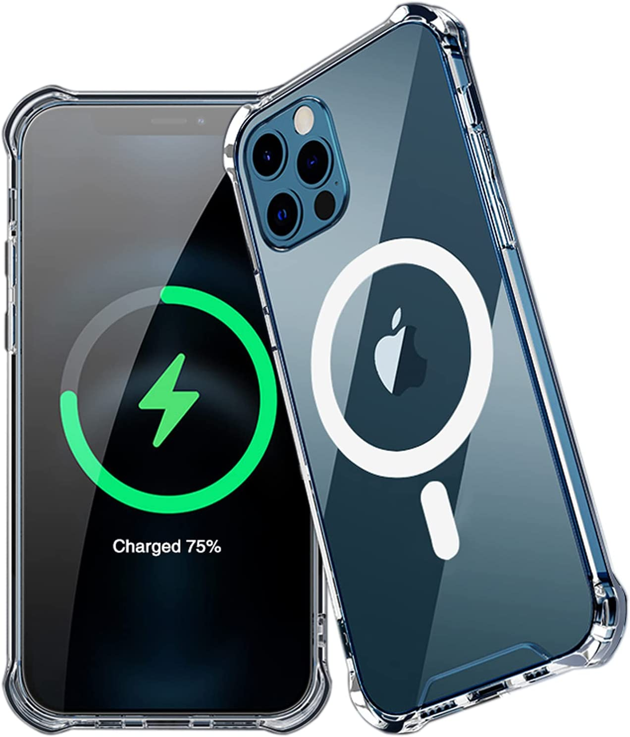 Svacoco Clear Magnetic Case for iPhone 12 Pro Max Case Compatible with Magnetic Fast Wireless Charging, [Anti-Yellowing], Bumper Shockproof Thin Crystal Clear Scratch Cover Protective Case 6.7inch