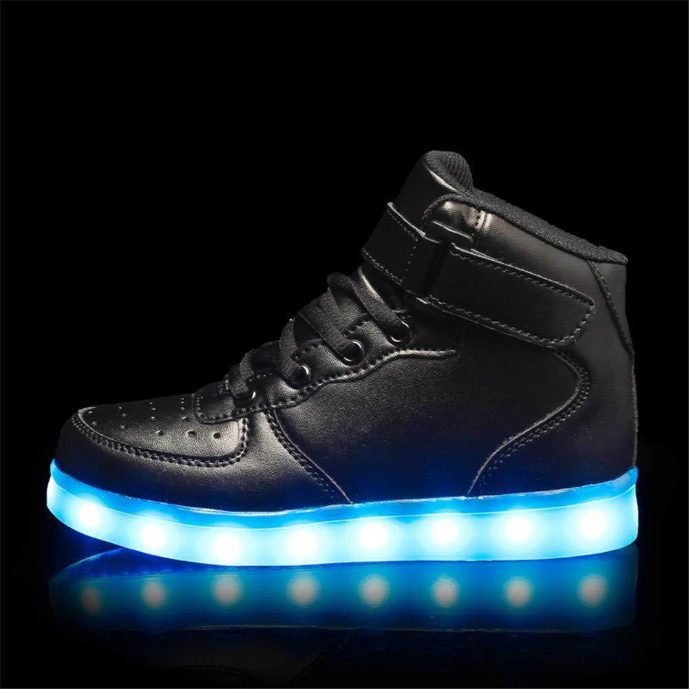 Wildfire Vine Regalo de cumplea/ños Zapatos LED Ni/ños Ni/ñas 7 Color USB Carga LED Zapatillas Luces Luminosos Zapatillas LED Calzado Deportivo de Ni/ño Ni/ña