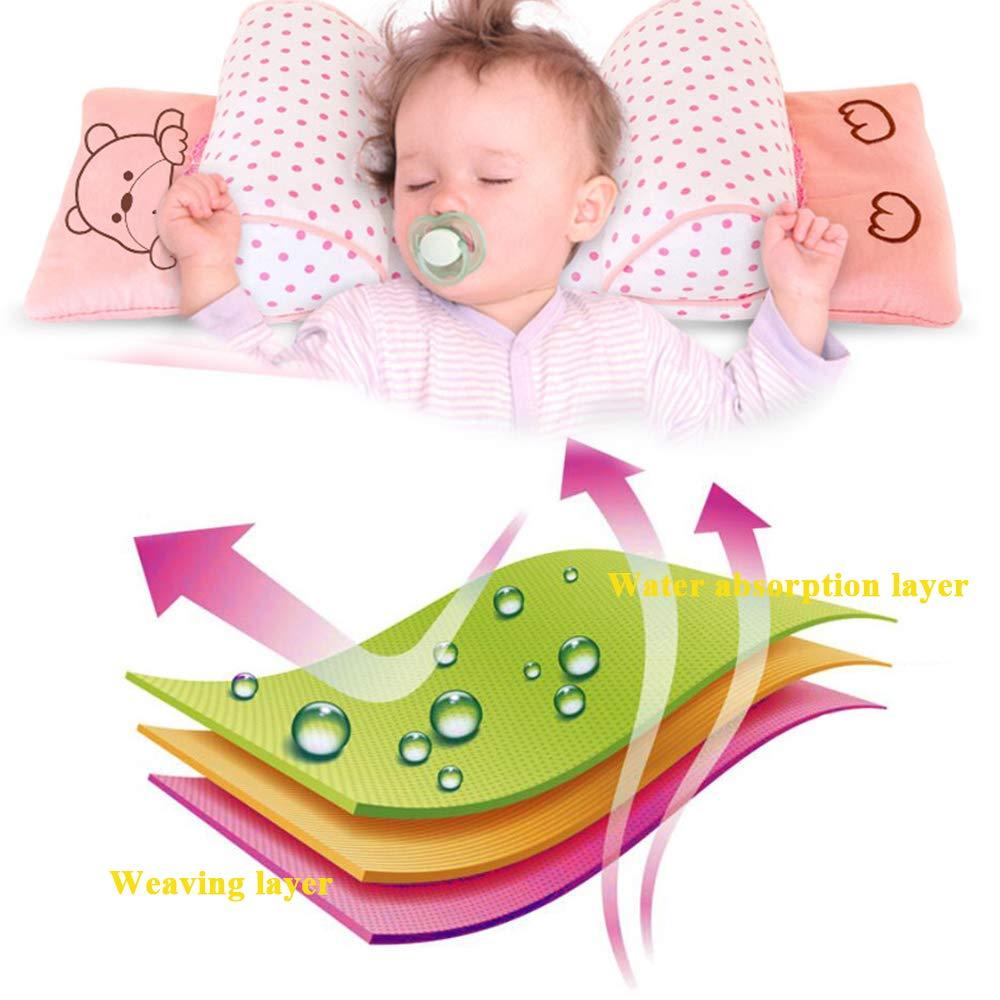 0-24 Meses, Incluye Almohadilla de Almohada TFACR Almohada del beb/é ,Blue,A Almohada Ajustable del sue/ño del beb/é= Almohada de Ajuste de la Cabeza Anti-desviaci/ón