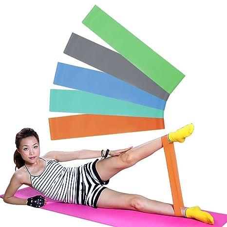 Ndier - Cinturón elástico de látex para Yoga, Ajuste Saludable, Resistencia, Cuerda para Entrenamiento de Fuerza para Exteriores