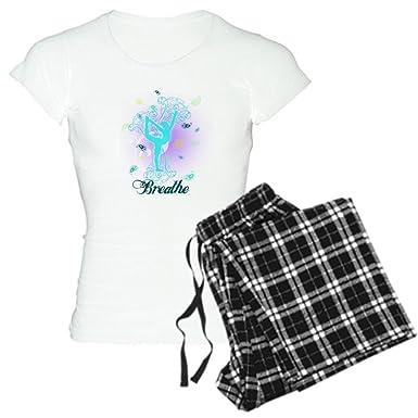 Amazon.com: CafePress – respirar Yoga Pose – para mujer ...