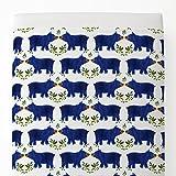 Carousel Designs Blue Woodland Bear Toddler Bed Sheet Top Flat