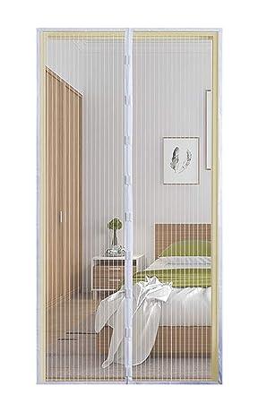 Fits Door up 210cm x 90cm with Magnets /& Frame Velcro Qemsele Magnetic Door Screen Door Mesh Fly Insect Mosquito Door Curtain 100x210cm, Black