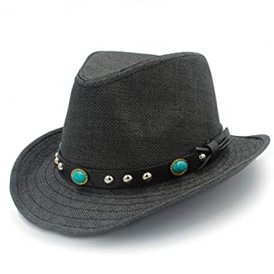 Mens Western Cowboy Hats Summer Beach Fashion Sombrero Sun Cap Unisex 46d7139ec41