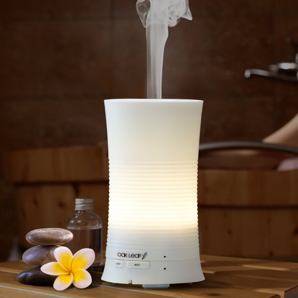 amazon com essential oil diffuser oak leaf 100ml ultrasonic amazon com essential oil diffuser oak leaf 100ml ultrasonic mini cool mist aroma air humidifier with soothing color led lights changing waterless