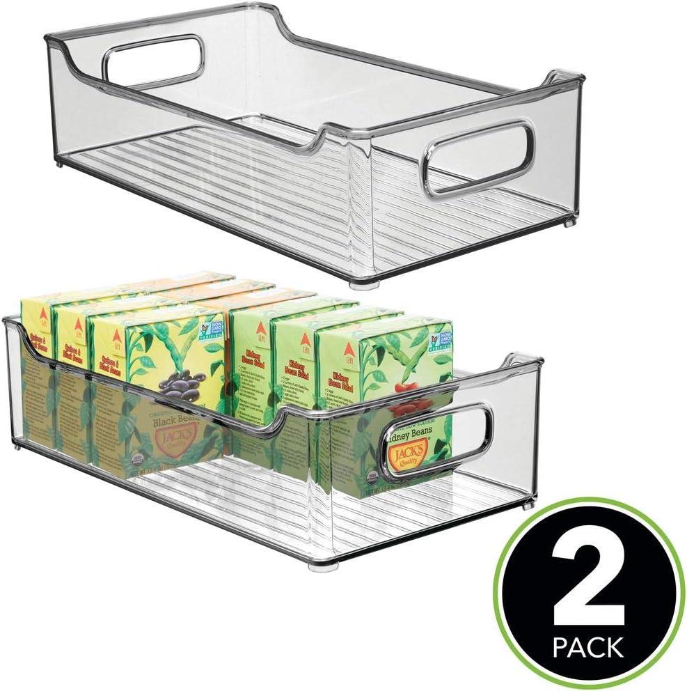 mDesign Juego de 2 fiambreras para la cocina – Cajas de plástico ...