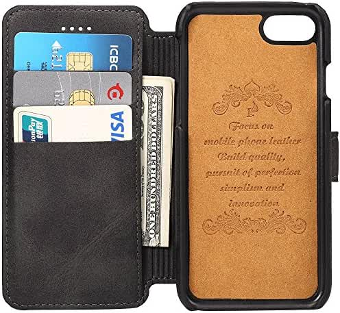 Phone Case with Card Slots Leather Wallet Phone Case with Flap Cover Kikstand for iPhone Samsung Galaxy