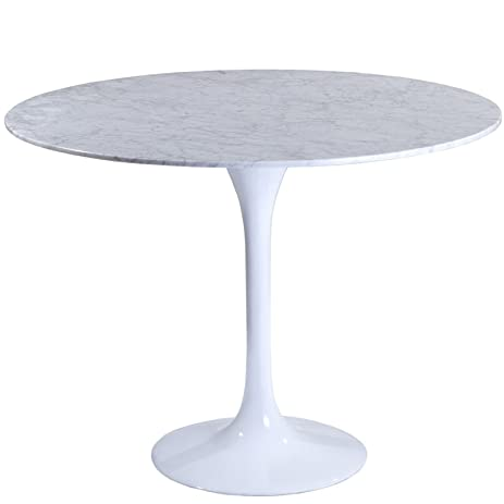 modway 40 u0026quot  eero saarinen style tulip dining table with white marble top amazon com  modway 40   eero saarinen style tulip dining table with      rh   amazon com