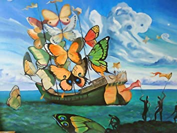Salvador Dali Butterfly Sails Print Poster Giclee