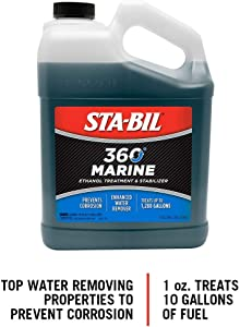 STA-BIL (22250) 360 Marine Ethanol Treatment and Fuel Stabilizer - Prevents Corrosion - Helps Clean Fuel System For Improved In-Season Performance -Treats Up To 1,280 Gallons, 1 Gallon
