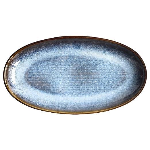 SMC Platos Plato de Ensalada de Sushi Azul de Horno Retro de ...