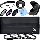 Xit Pro UV CPL FLD Lens Filter + Close-Up Macro Deluxe Accessory Kit for Lenses with a 58mm Filter Size