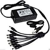 wennow Premium 5Amp Power Adapter with 8 way splitter for Lorex Cameras