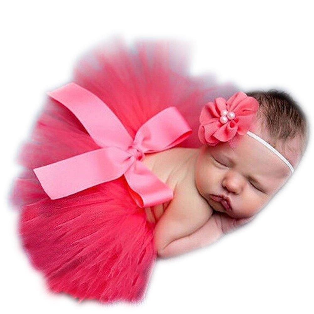 Botetrade Newborn Baby Girls Skirt Tutu Clothes Knitted Crochet Photo Prop Outfits