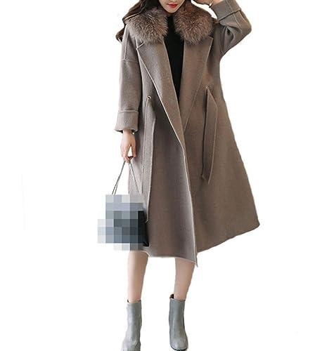 Abrigo De Mujer Otoño E Invierno Nueva Moda Abrigo Largo De La Capa Suelta De La Rodilla Que Es Chaqueta Material