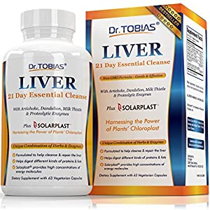 Liver Support Supplement – Cleanse & Detox Pills: Detoxifier & Regenerator – Solarplast, Milk Thistle (Silymarin), Artichoke, Dandelion &…