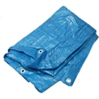 Lona de Tela Impermeable con Ojales, Color Azul, 2x3m