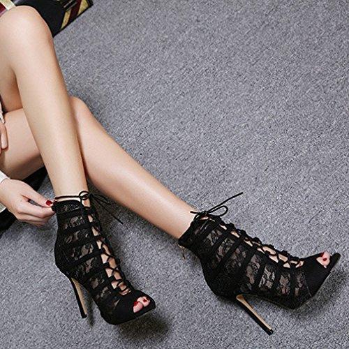 Mujeres Zapatos Cremalleraper Xianshu Cordones de Tac vd7wtqAwxW