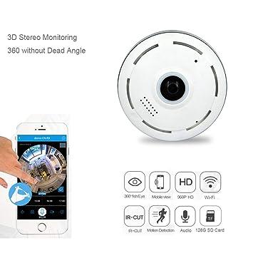Amazon.com: Melesplus EC11 Cámara IP panorámica 360° 1080P ...