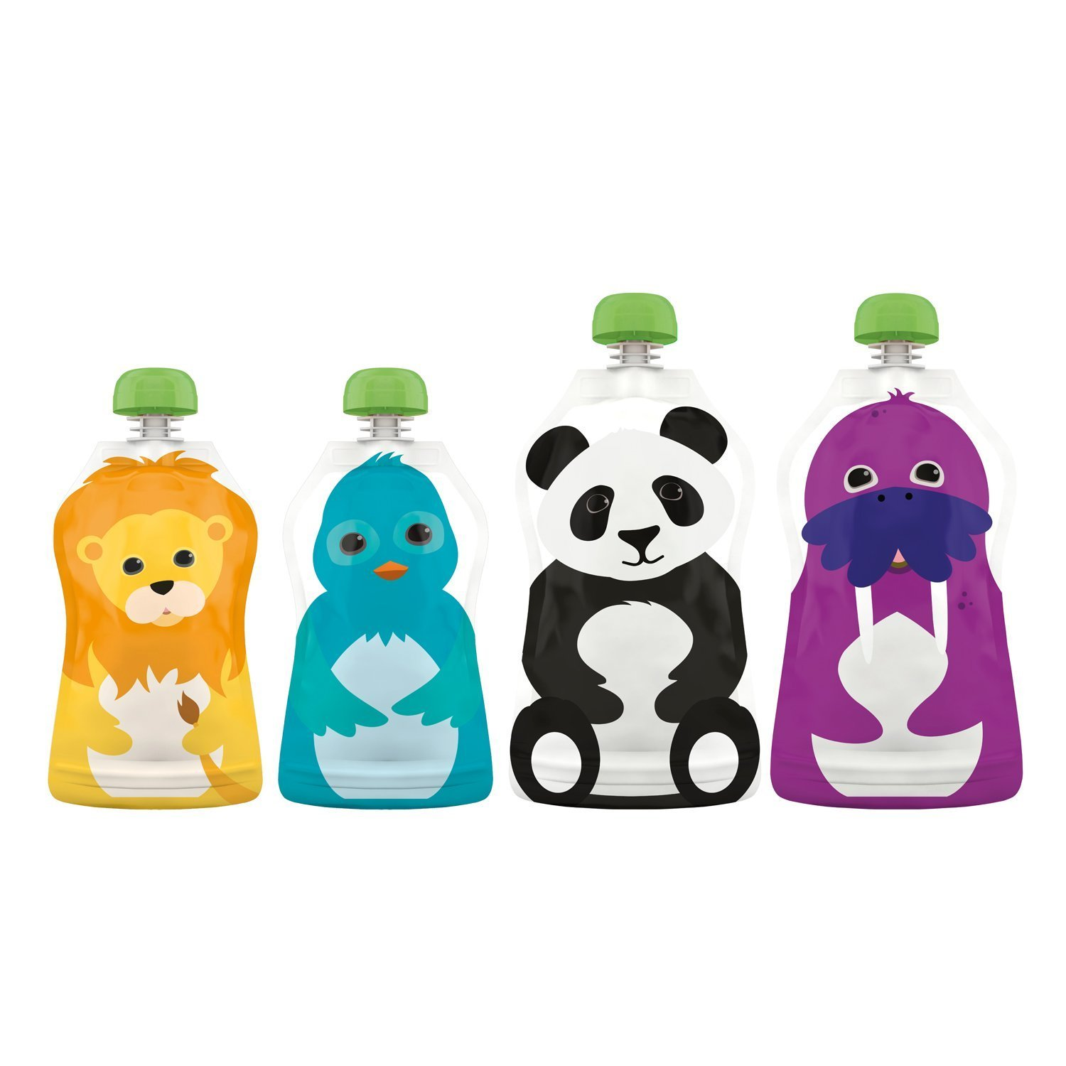 f519a9d34 Amazon.com   Reusable Food Pouch (Set of 4)   Baby Food Fruit   Baby