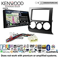 Volunteer Audio Kenwood DNX874S Double Din Radio Install Kit with GPS Navigation Apple CarPlay Android Auto Fits 2004-2012 Mitsubishi Galant
