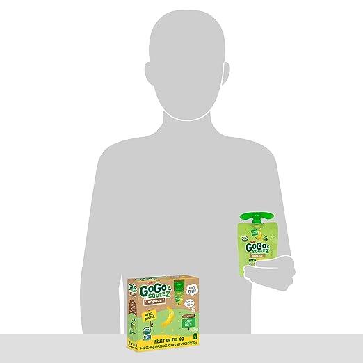 GoGo squeeZ Applesauce en marcha, manzana 3.2 oz bolsas ...
