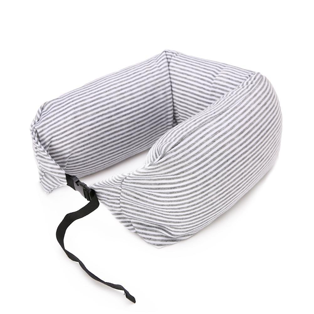 Odeer Long Strip U Shaped Foam Particles Travel Neck Pillow Health Care Headrest Home Office Car - All Seasonal, White