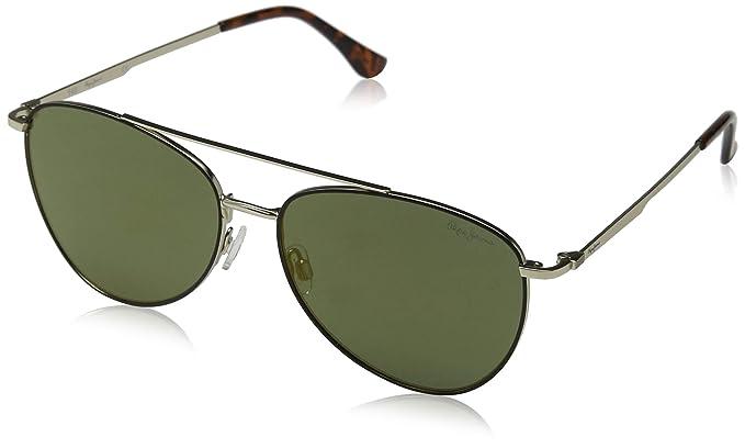 Pepe Jeans Neo Gafas de Sol, Dorado (Black Gold/Green), 59.0 ...