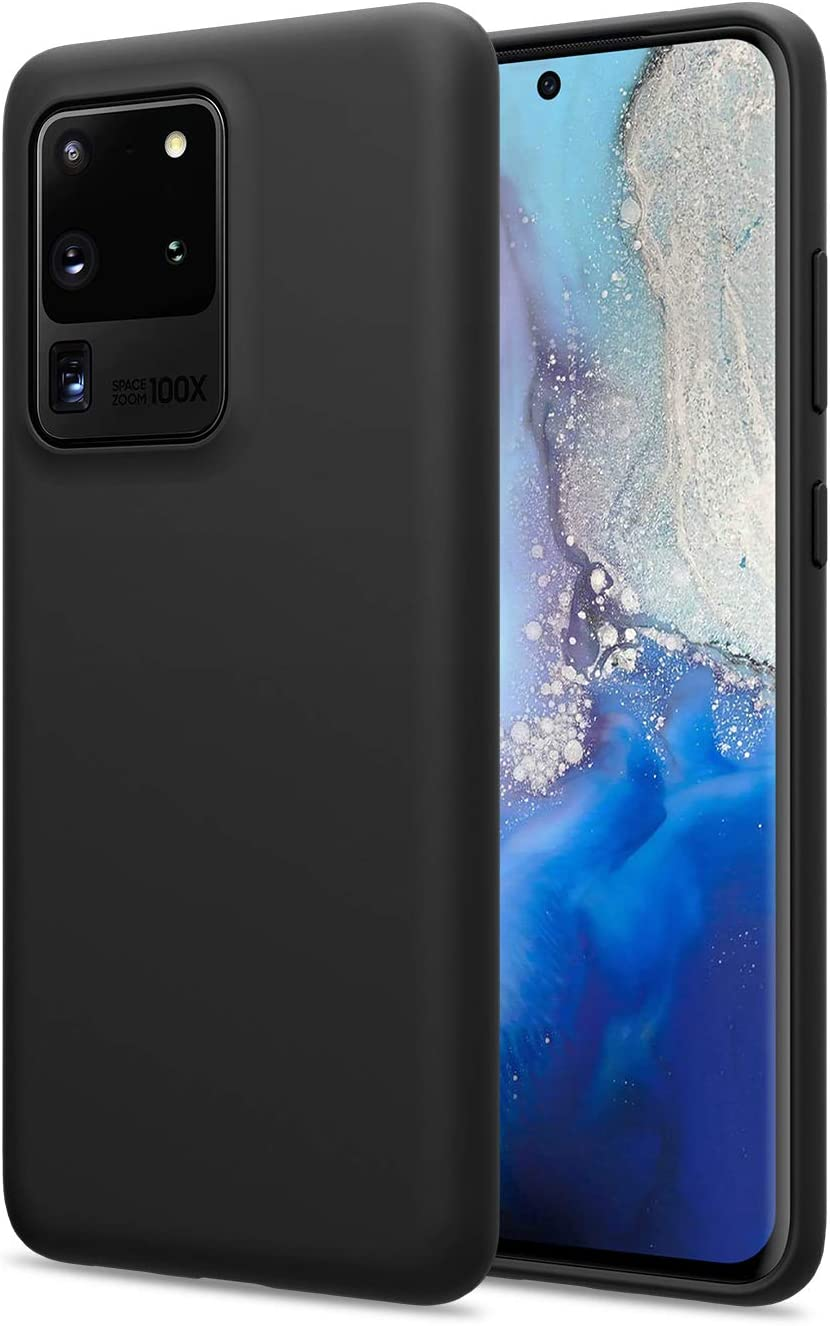 Nillkin Galaxy S20 Ultra/S20 Ultra 5G Case - Liquid Silicone Drop Protection,Anti-Fingerprint and Anti-Oil Soft Cover for Samsung Galaxy S20 Ultra/S20 Ultra 5G Case 6.9 inch, Black