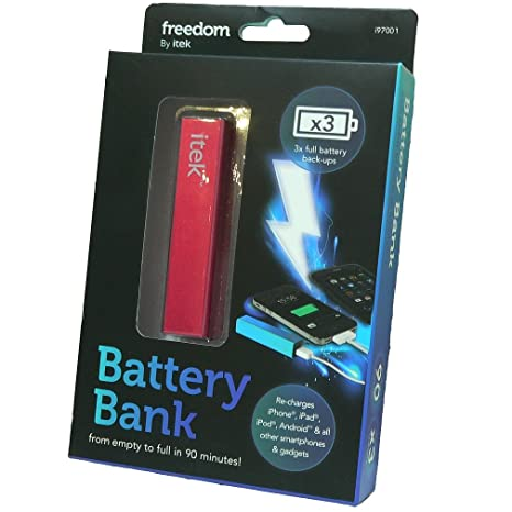 Amazon.com: iTek Libertad Cargador de batería portátil Banco ...