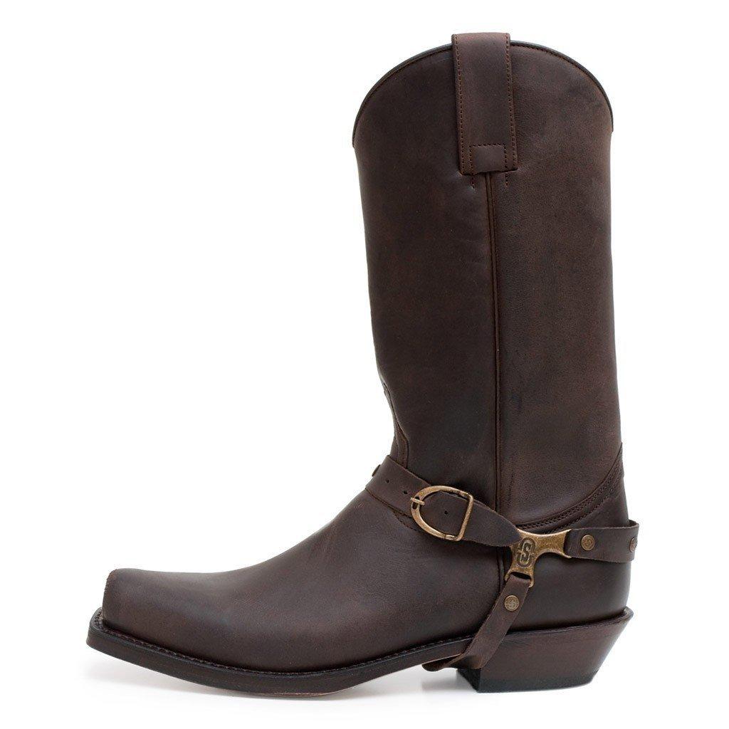 8b6bdb930 Sendra 3091 Men's Cowboy Boots Brown Chocolate Leather Western Biker  Handmade (Men UK 9.5 / EU 44): Amazon.co.uk: Shoes & Bags