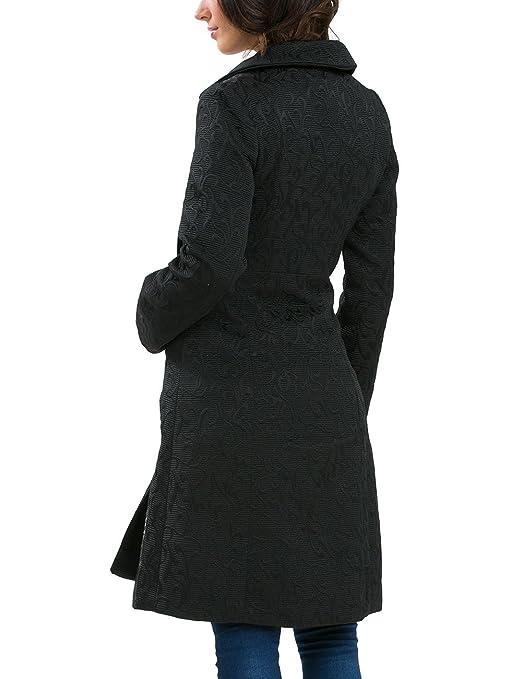 Desigual Chaq_YAILA - Abrigo para Mujer, Color Negro 2000, Talla 40: Amazon.es: Ropa y accesorios