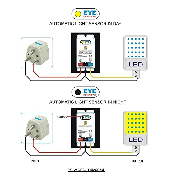 Old Fashioned Automatic Light Sensor Circuit Festooning - Electrical ...