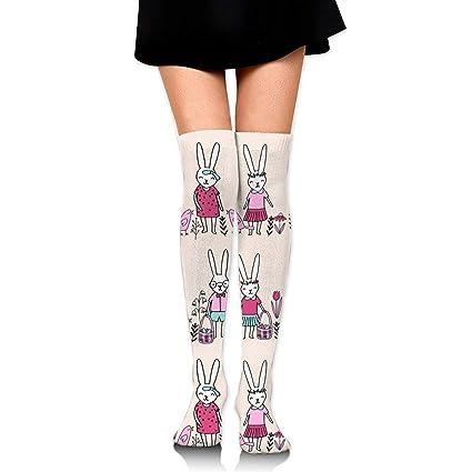 bf6b7d77620 Amazon.com  Easter Egg Hunt Bunny Rabbit Women s Fashion Over The Knee High  Socks  Sports   Outdoors