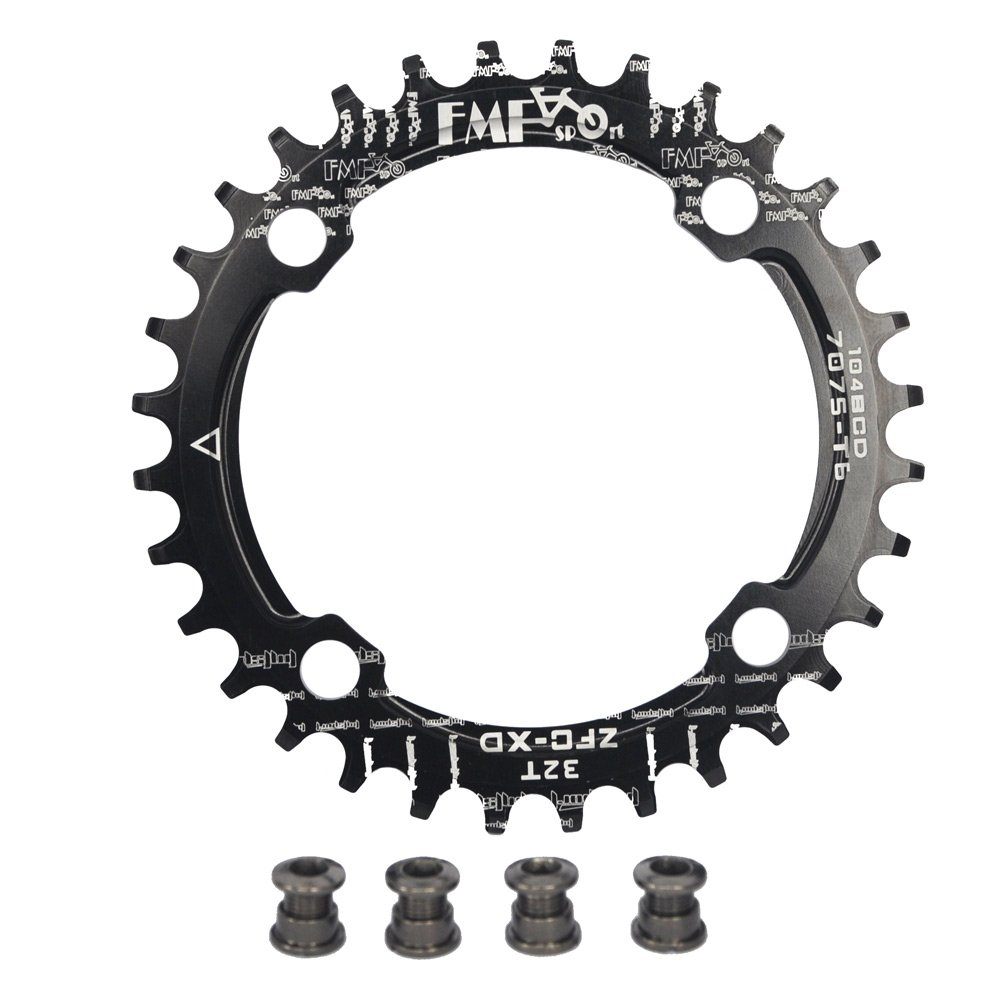 UPANBIKE Bike Narrow Wide Chainring 104 BCD Round Shape Single Chain Ring 32T 34T 36T 38T by UPANBIKE