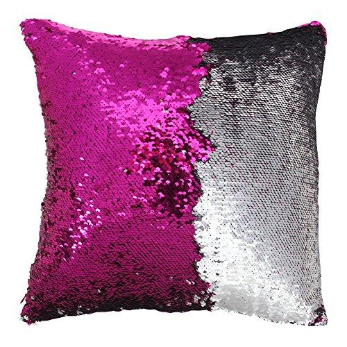 Sirena funda de almohada, Play Tailor magia reversible de lentejuelas de almohada Caso cubierta del amortiguador 40x40cm