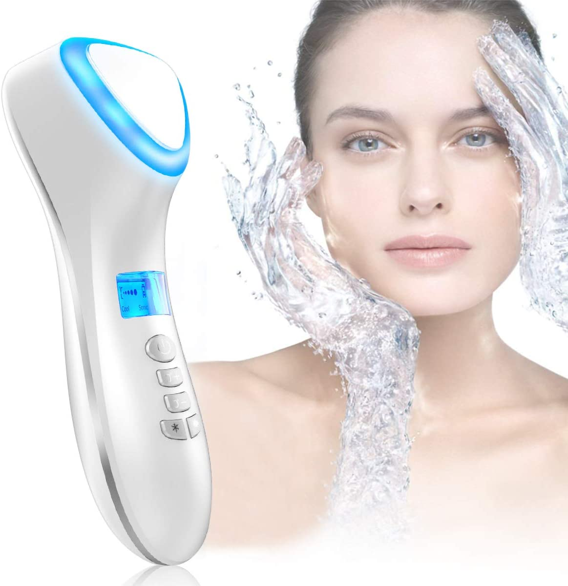 Hot And Cold Facial Massager Portable Handheld Beauty Machine Electric Rechargeable Sonic Vibration Skin Care Device For Anti Wrinkle Anti Aging Tightening Shrink Pores Amazon Co Uk Beauty