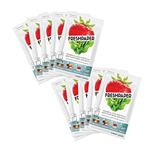 FRESHPAPER Food Saver Sheets for Produce (8-sheet package) - 10 Pack