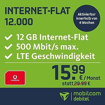 Mobilcom Debitel Internet Flat 12000 Im Vodafone Netz Amazonde
