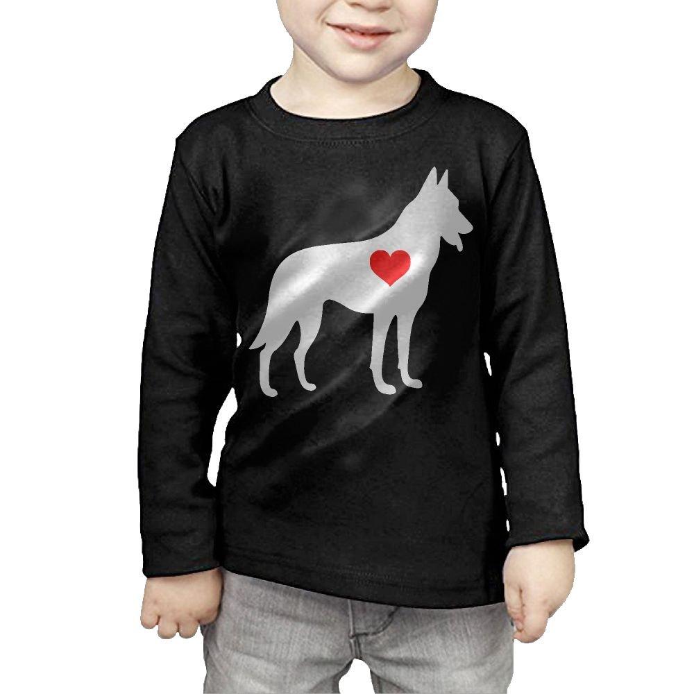 CERTONGCXTS Childrens German Shepherd Heart-1 ComfortSoft Long Sleeve Tee