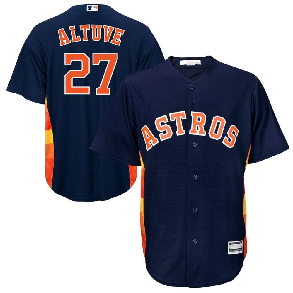 Jose Altuve Houston Astros Official Cool Base Player Jersey #27- Navy L by Mitchell & Ness (Image #1)