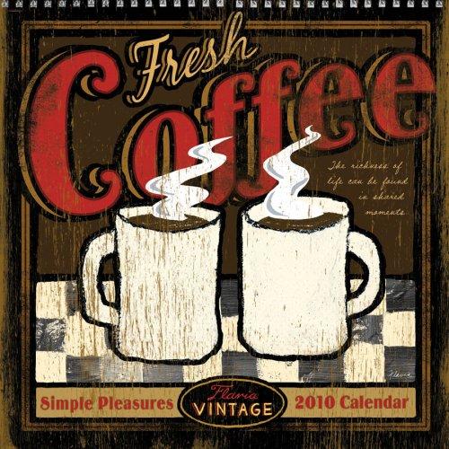 Flavia Vintage: Simple Pleasures Linen 2010 Wall - Linen Calendar Wall 2010