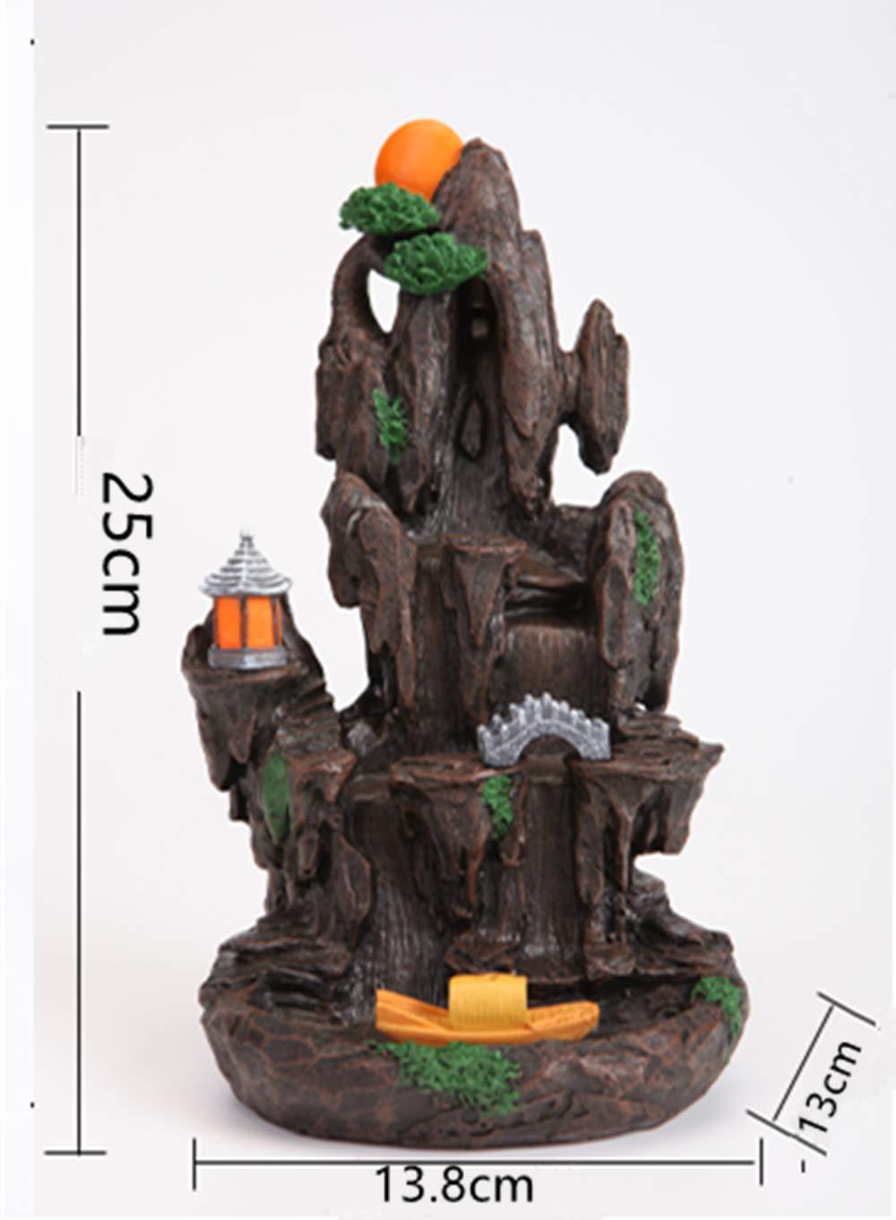 semli Incense Burner Backflow Incense Burner Holder Incense Stick Holder Home Office Decor by semli (Image #3)