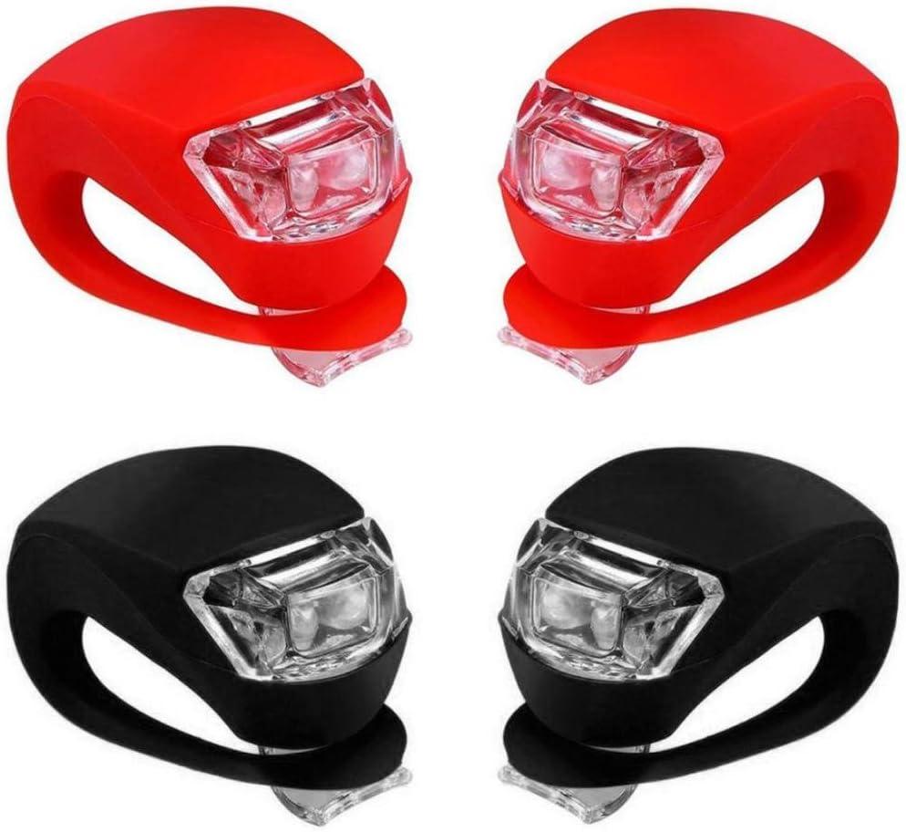 Wanshop Cycling Bike Silicone Frog Light 2 LED Front//Rear Safety Warning Lamp Bike Lights Bright